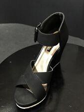 Michael Antonio Women's Gratia Sandals Wedges Shoes Black Size US 8 M