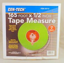 Cen-Tech 165 ft x 1/2 in Tape Measure 35712 Fiberglass SAE & Metric