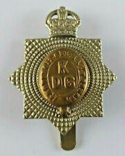 More details for ww1 kings dragoon guards cap badge - slider to rear - bi metal -
