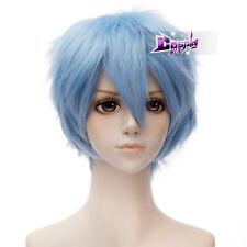 Light Blue 12'' Short Anime Akatsuki no Yona Shin-Ah Cosplay Wig Heat Resistant