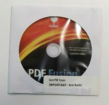 Corel PDF Fusion CDCPDFF1ML02 Disc Only Serial Number Included