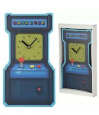 GAME OVER wall clock  BLUE BEDROOM ACCESSORIES GIFTS CHILDREN'S SCHOOL GAMING