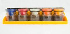 Mini Storage Jar Set 5 Air-Tight Utility Rack Plastic Kitchen Crafts Desk