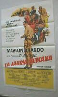 Filmplakat,Plakat,LA JAURIA HUMANA,THE CHASE,MARLON BRANDO,J FONDA,REDFORD #158