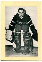 1945-64 Beehive Group 2 Jacques Plante Card Montreal Canadiens Nice Clean