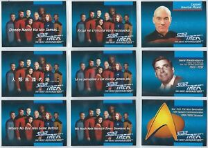1992 Star Trek the Next Generation Inagural 120 Card Base Set + International
