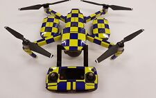 DJI Mavic Wrap Police / Security / Taxi style Battenberg Skin / Decal UK made