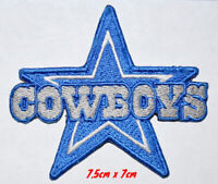 Dallas cowboys star blue iron on/sew on Embroidered Patch applique