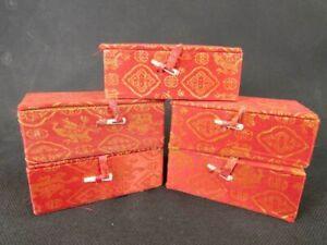Chinese Dragon Pattern Snuff Bottle Brocade Box