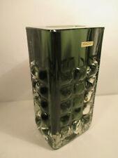 Ichendorf Design Glas Vase / Horst Tüselmann / Vintage / Mid Century + Etikett