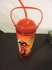 Disney Pixar DCA Incredibles Travel Water Bottle Tumbler SIPPER INCREDICOASTER