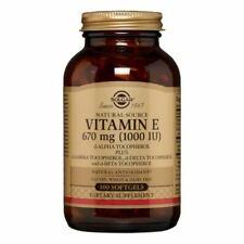 Solgar 671 MG de Vitamine E Capsules molles –