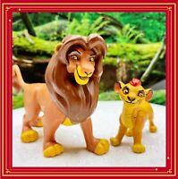 VINTAGE HTF DISNEY LION KING Young SIMBA And MUFASA PVC FIGURES CAKE TOPPER