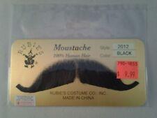 Black European Moustache 100% Human Hair Lace Backing Fake Mustache Style2012