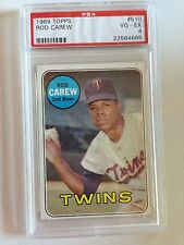 1969 Topps #510 Rod Carew PSA 4 Excellent Condition