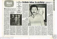 Coupure de presse Clipping 1983 (2 pages) On a tué Marilyn Monroe