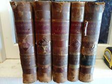 Lot 5 Antique leather law books New York Reports Decor Decorative 1874-1900s