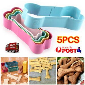 5Pcs Stainless Steel Dog Bone Cookie Cutter Biscuit Fondant Pastry Baking Tools