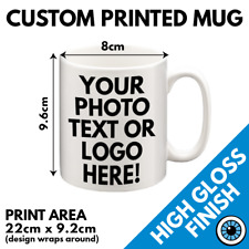 Custom Printed Mug • Personalised Print Christmas Gift Image Text Photo Mugs Cup