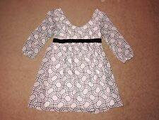 MAURICES WOMEN'S WHITE BLACK DESIGN 3/4 SLEEVE DRESS SIZE 9/10