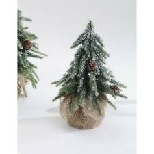 Dekoobjekt Tannenbaum mit Zapfen und Schnee H. 20cm Formano W21