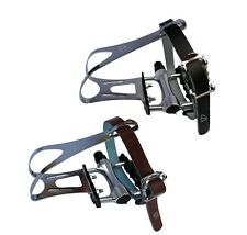 "VP Components VP-189A Pedals 9/16"" with Toe Clips & Brown or Black Straps"
