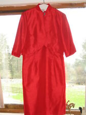 ELEGANT RED DRESS AND JACKET WEDDING GUEST MOTHER OF THE BRIDE UK 16