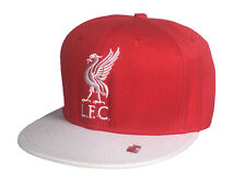 Liverpool FC SnapBack Flat Brim Hat Red & White LFC Logo NWT
