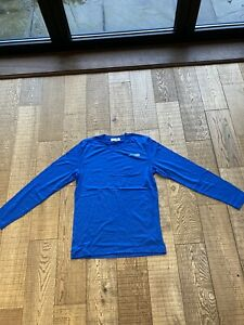 Merino Wool Men's Medium Blue Long Sleeve Top
