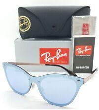NEW Rayban Blaze Cat Eye sunglasses RB3580N 90391U 43 Violet Mirror AUTHENTIC