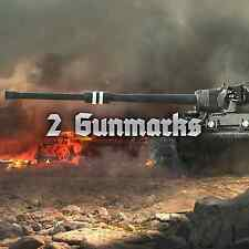 World of Tanks WOT 2 GUN MARKS OF EXCELLENCE EU/NA No Bonus Code UNICUM