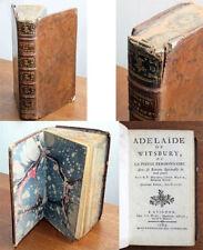 Livres anciens et de collection en cuir XVIIIème sur histoire