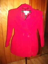 Women's Forever 21, Beautiful, Deep Red Peacoat, Size M