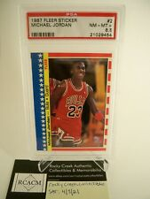 1987 Fleer Sticker Michael Jordan # 2 PSA 8.5 NM-MT+ HOF Chicago Bulls