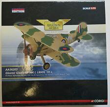 CORGI AVIAZIONE Gloster Gladiator Mk.I l8009 yk-i aa36205 FO Peter wykehambarnes