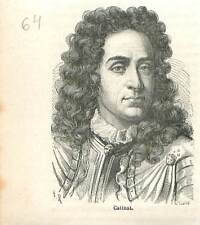 Nicolas Catinat de La Fauconnerie seigneur de Saint-Gratien  GRAVURE 1883