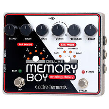 Electro-Harmonix Deluxe Memory Boy Analog Delay Guitar Pedal +Picks