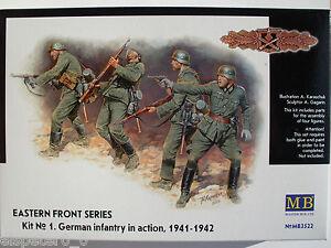 WWII Allemand Infanterie Front De L'Est Kit 1 Master Box Figurines 1:3 5,