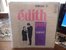 édith Piaf - volume 5 : olympia 62   - columbia  SCTX 340 213