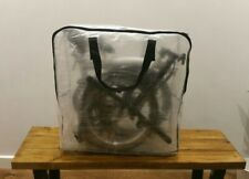 Brompton Bike woven pvc carrier zip bag, fold flat to A4 for London underground