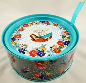 The Pioneer Woman Tin Birthday Floral Round Container With Lid
