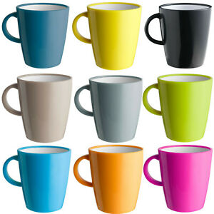 Camping Resylin Melamin bruchfeste Tasse Henkelbecher Kaffeebecher Kaffeetasse