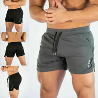 Men Swim Fitted Shorts Bodybuilding Workout Gym Running Tight Lifting Shorts Vi