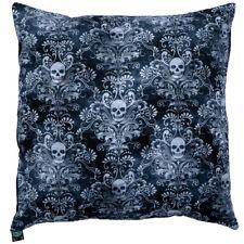 "Filigree Skull Cushion Cover Decorative Case fits 18"" x 18"" feeanddave"