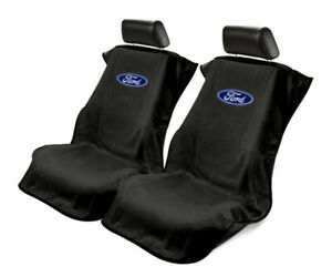 Seat Armour Universal Black Towel Front Seat Covers for Ford -Pair