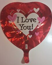 "Foil Balloons Valentine's Day Heart Shaped 18"" I Love You Anagram Lot 8 Unique"
