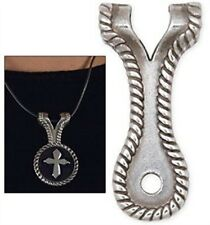 Western Equestrian Antique Silver Concho Pendant/Necklace Adapter