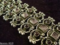 VINTAGE DESIGN TAXCO MEXICAN STERLING SILVER AMETHYST BRACELET MEXICO