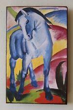 Blaues Pferd I von Franz Marc Unikat auf 100 Jahre altem Ziegel 3 Blauer Reiter