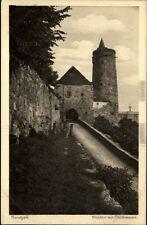 Bautzen alte Postkarte Sachsen 1910 Partie am Mühltor mit Stadtmauer ungelaufen